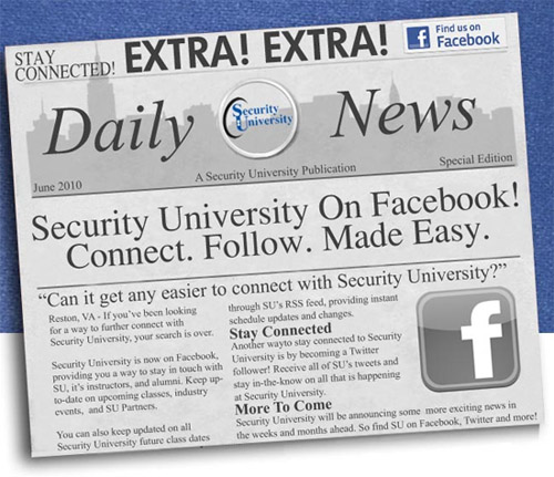 Security University now on Facebook!